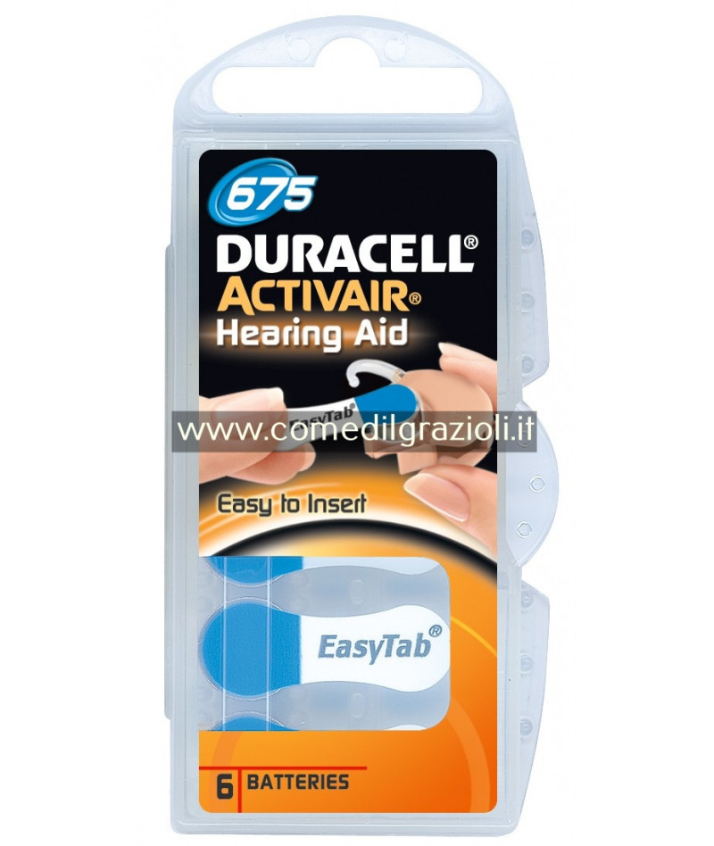 PILE DURACELL SPECIAL 675 X...